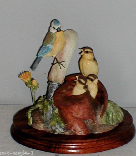 Original VRare Border Fine Arts Limited Edition, BLUE TIT AND CHICKS, MIB