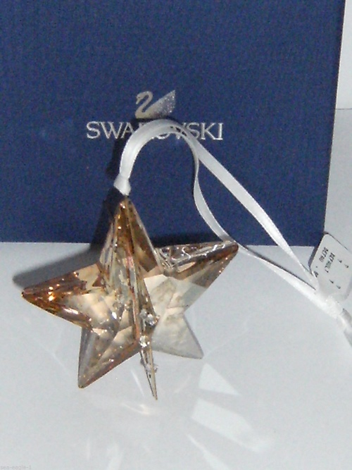 SWAROVSKI CHRISTMAS STAR GOLDEN SHADOW