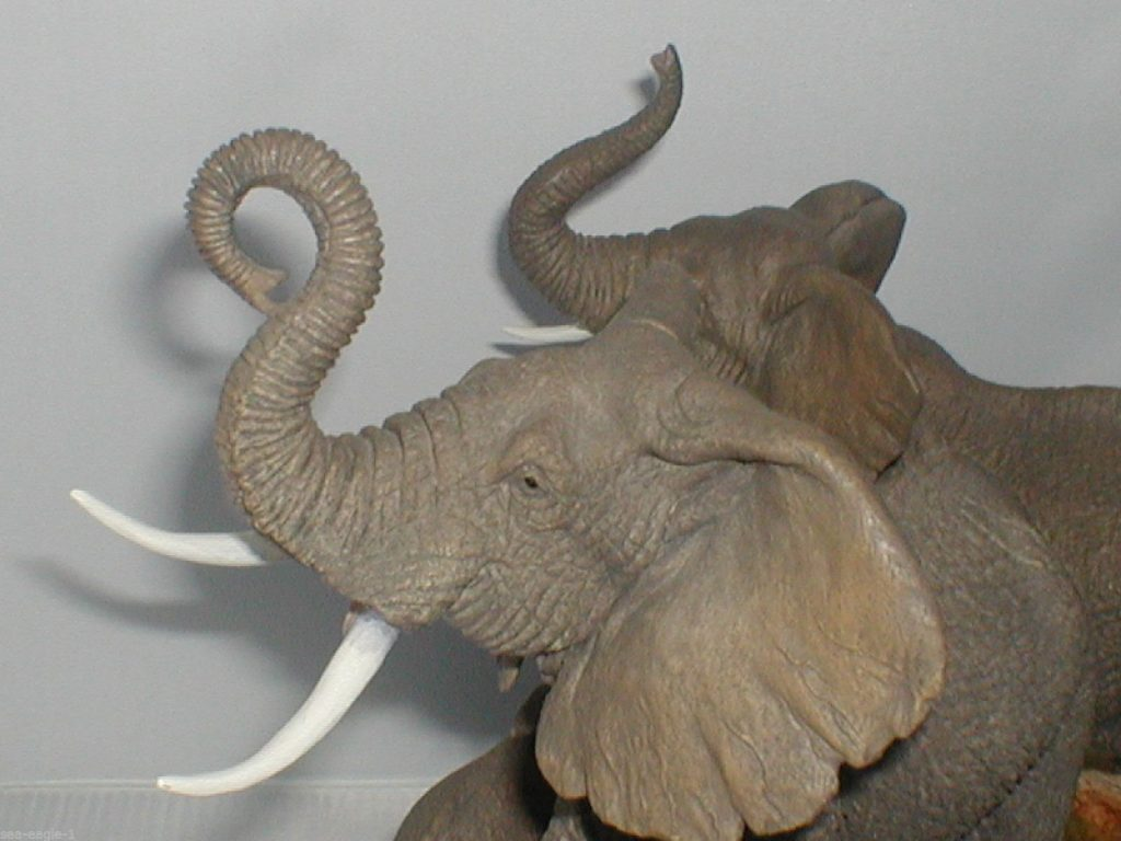 PHOTO of Voice of Africa Elephant Herd 1991 Sculpture