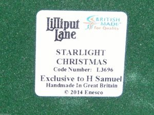 Starlight Christmas Lilliput Lane original label