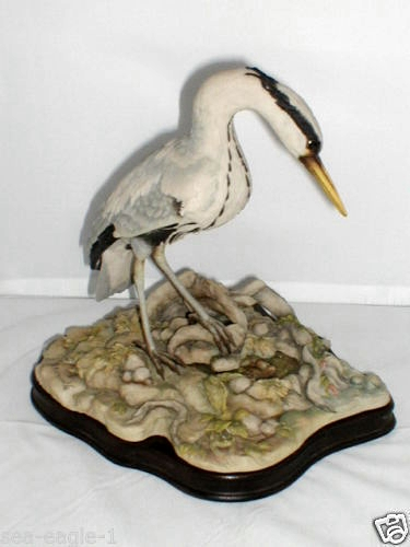 HERON FISHING IN POND Limited Edition