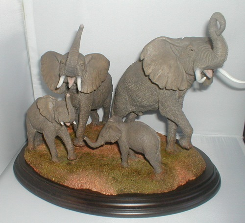 Voice of Africa Elephant Herd 1991 Sculpture