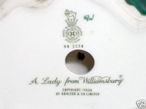 photo of Lady from Williamsburg certificate