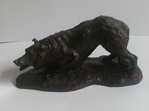 Border Collie Sculpture by Jean Spouse