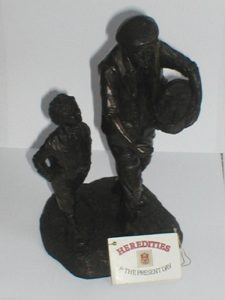 FARMER and SON SOWING SEED SCULPTURE
